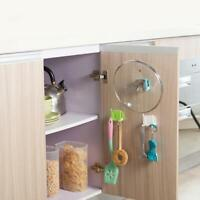 Wall Hanger Plastic Pot Holder Kitchen Cover Oil Hanging Storage Rack E9U5