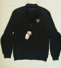 Men's gray sweater by Greg Norman size M 1/2 Zip, new!