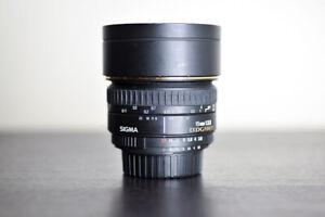 Sigma EX DG AF 15mm F/2.8 FX Fisheye Lens for Nikon!