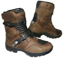 MTECH Adventure Motorbike Low Boots Motorcycle Water Proof Touring Boots Brown