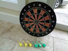 """Magnetic Dartboard Game Set 6 darts Kids Safe 16"""" in diameter 20 points"""