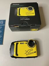 Fujifilm Finepix XP140 Waterproof Digital Camera Yellow, Bundle Set With SD Card