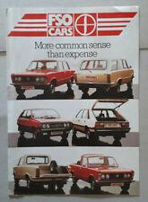FSO 1300/1500 Saloons, Estate, Pick-up & Polonez Brochure 1984