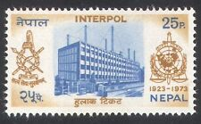 Nepal 1973 Interpol/Police/Law/Order/Buildings/Architecture/Radio Mast 1v n38915