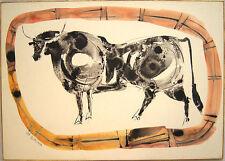 JOSE LUIS CABALLERO Signed c. 1958 Original Watercolor - LISTED