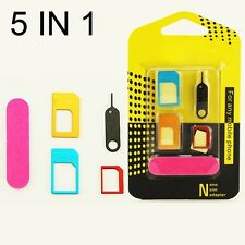 5 in1 Universal Nano SIM Card to Micro Standard Adapter  Converter Set for Phone