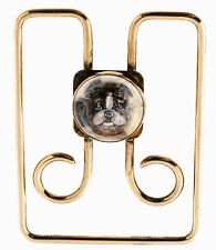 Estate 14k Yellow Gold Designer Tiffany + Co Boston Terrier Money Clip