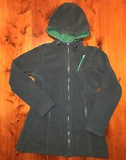 Athleta Exhalation Hoodie Jacket Plush Fleece Teal XS  $98 MSRP EUC