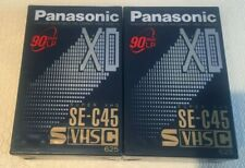 Panasonic S VHS C45 SE-C45 Kassetten 2 Stück NEU IN FOLIE