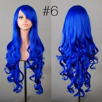 New 80cm Long Curly Wigs Fashion Cosplay Costume Hair Anime Full Wavy Party Wig.