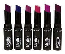 6pcs Nabi Matt Lipstick Set of 6 Purple Colors