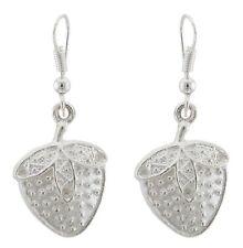 Zest Tibetan Silver Strawberry Drop Earrings for Pierced Ears