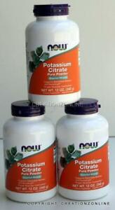 3 Bottles  Potassium Citrate Pure Powder NOW FOODS Total  1020 gms Electrolyte