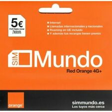 Orange Tarjeta Sim de Prepago Orange con Saldo y Rooming Red 4G