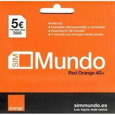 Orange Tarjeta Sim de Prepago Orange con Saldo y Rooming Red 4G
