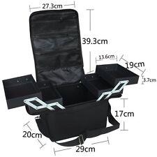Glow Professional Fabric Finish Make Up Beauty Cosmetic Case Black