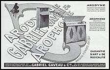 PUBLICITE  GRAMOPHONE PHONOGRAPHE ARODYNE GABRIEL GAVEAU   AD  1929 -1H