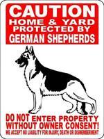 1709 GERMAN SHEPHERD DOG SIGN,9 X 12 ALUMINUM SIGN,SECURITY,WARNING,