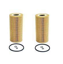Set of 2 Front Oil Filter Mahle 6061800009 For Mercedes W210 E300 E300D 96-99