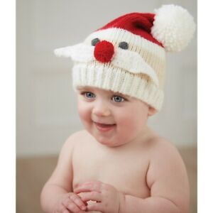 Mud Pie H0 Classic Christmas Holiday Baby Santa Knit Hat 16010083 Choose Size