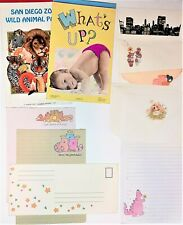 Vintage Stationery Letter Sets Writing Pads w/Envelopes LOT 80s San Diego Zoo ++