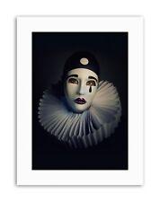 Étude interprète Pierrot Masque Costume Portrait Toile Art Prints