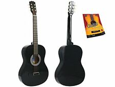 Star Acoustic Guitar 38 Inch with Beginner's Guide, Black