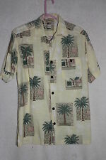 Joe Marlin Mens Hawaiian Camp Short Sleeve Shirt Medium Cotton Blend