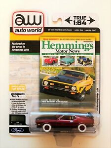 CHASE 1971 FORD MUSTANG BOSS 351 (COVER CAR) 1/64 AUTOWORLD 64272