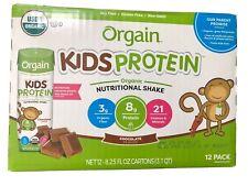 Orgain Kids Organic Nutritional Shake, Chocolate 8g Protein, 12 Ct