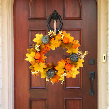 Halloween Fall Wreath for Door Artificial Fall Wreath Indoor or Outdoor Decor