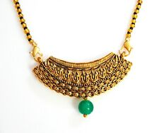 Necklace Chain New Women Jewelry South Indian Wedding Mangalsutra Antique Gold
