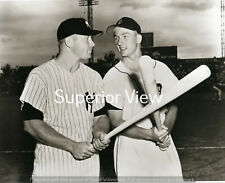Detroit Tigers Al Kaline & New York Yankees Mickey Mantle Crossing Bats MUST SEE