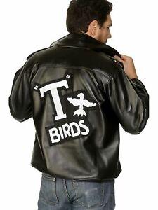 Mens T Bird Jacket Grease Danny 50s Rockabilly T'Bird Jacket TBird Costume Adult