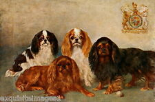 1911 Fairman~4 Various Colors Cavalier King Charles Spaniel Dogs~New Note Cards