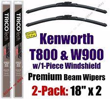 Wipers 2-Pack Premium fits 2007+ Kenworth T800 / W900 w/1-Piece Glass - 19180x2