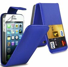 Flip Leather case Cover with Card Slots&clip for Apple Iphone 4/4s Multicolor UK