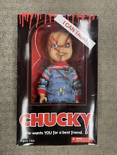 "+ Mezco Toyz Bride Of Chucky 15"" Childs Play Talking Scarred Chucky Doll NIB *ST"