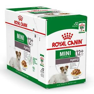 12 x Royal Canin Mini Senior Wet Dog Food in Gravy - Small Dogs up to 10kg - 85g