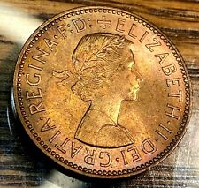 1959 Great Britain Halfpenny Gem Red Uncirculated Beauty KM-896 CHN