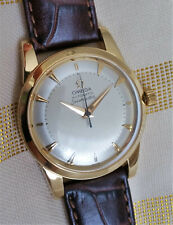 Vintage Swiss Omega Seamaster 'bumper' automatic watch, 18k solid gold, 351-2577