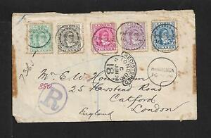 COOK IS. TO UK REGISTERED COVER 1894 RAROTONGA