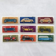More details for 9 vintage soviet ussr postal stamps - transport - cars - bus (years 1973, 1975)