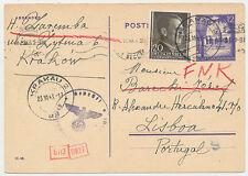 Generalgouvernement Lisboa Portugal Zensur Adresse Konspiration 1943. (168)