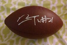 Desmond Trufant signed replica NFL football Atlanta Falcons Washington Huskies