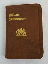 Antique Knickerboker William Shakespear COMEDY OF ERRORS Miniature Leather Book