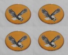 4 Gold Eagle Bird Wheel Rim Center Cap Round Emblem Sticker Logo 175 44mm
