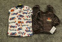 NEW Carter's Baby Boys 2 Piece Lot Footed Fleece Blanket Sleepers 6 Months NWT