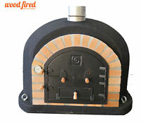 Outdoor wood fired Pizza oven 100cm x 100cm superior model in black