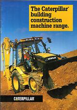 Caterpillar Building Construction Machines 1996-97 UK USA Markets Sales Brochure